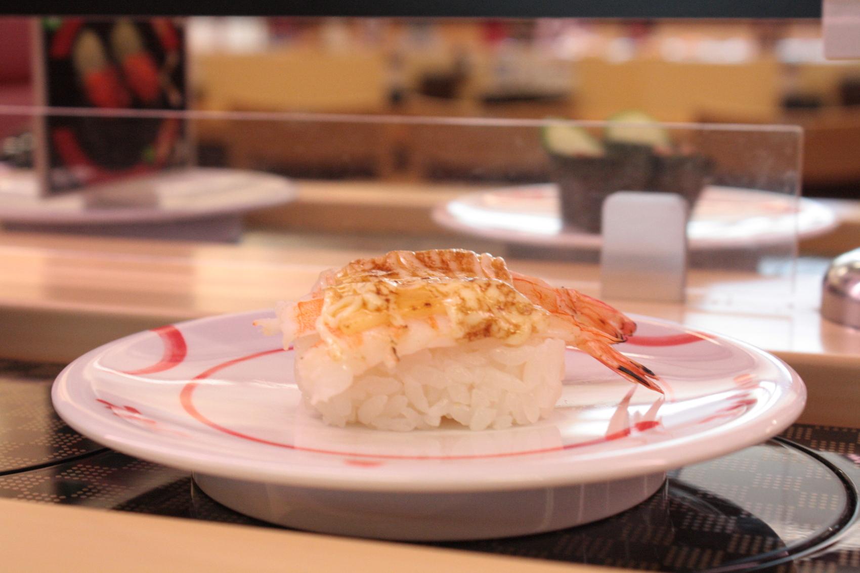 Sushi crevette et mayonnaise japonaise
