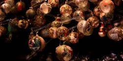 Détail d'un marché de Noël